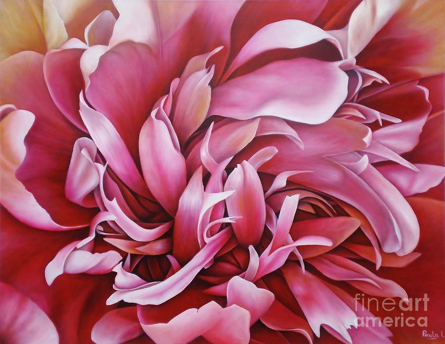 Abstract Peony Painting by Paula L