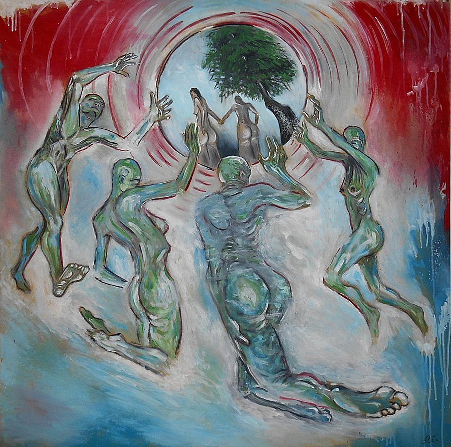 Adam i eva sanctify painting by damir kulusic for Adam i eva salon