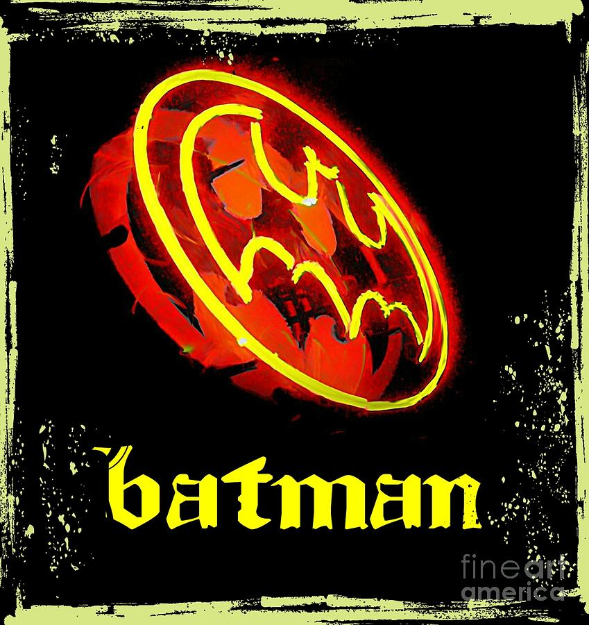Batman In Halifax Digital Art  -  Batman In Halifax Fine Art Print