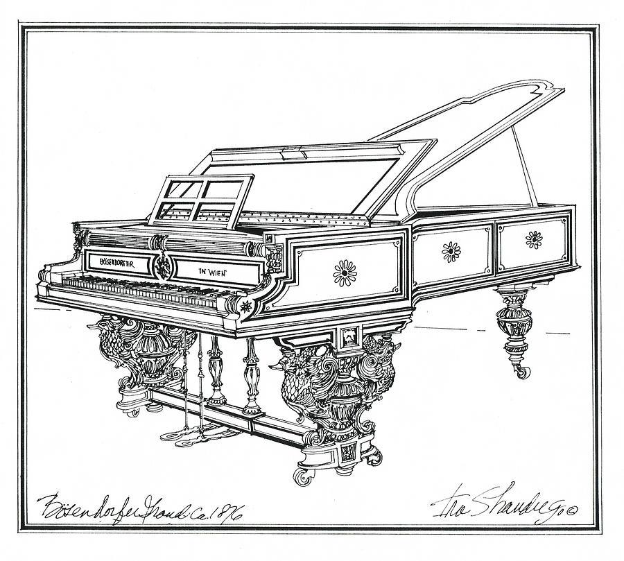 Bosendorfer Centennial Grand Piano Drawing