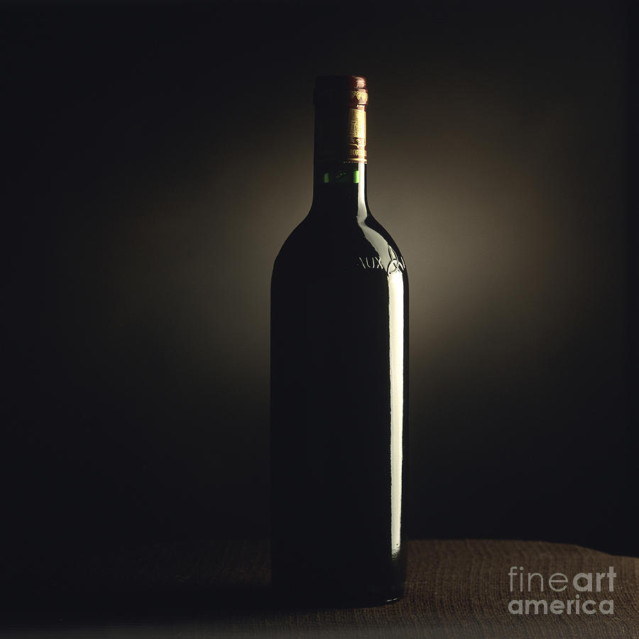Bottle Of Bordeaux Wine Photograph  -  Bottle Of Bordeaux Wine Fine Art Print