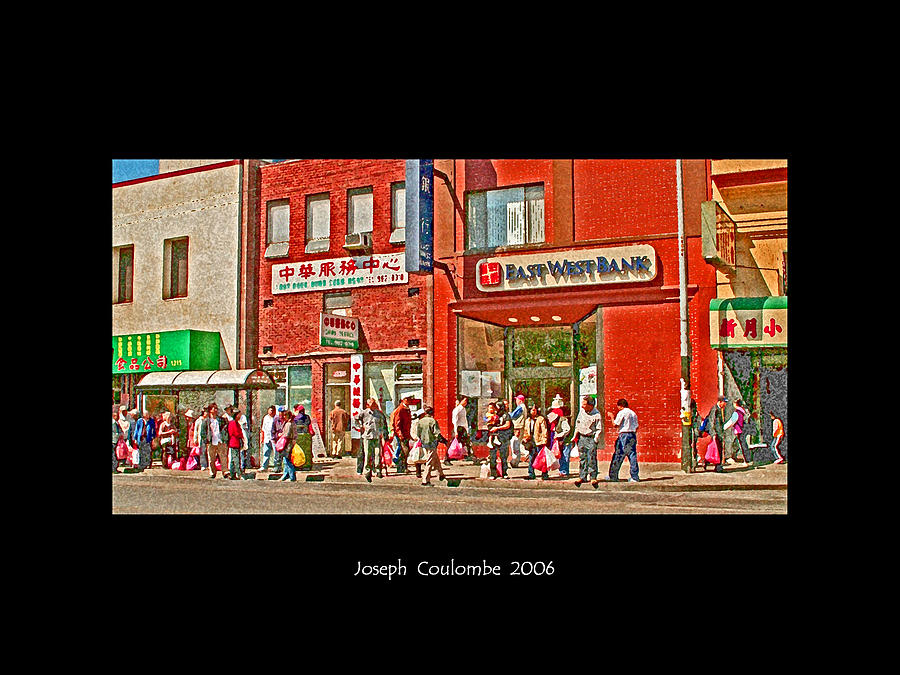 Chinatown Photograph -  Bus Stop  by Joseph Coulombe