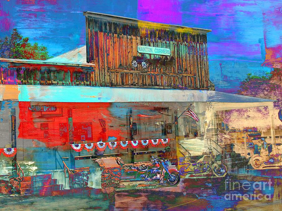 Cafe In Manton Ca Digital Art  -  Cafe In Manton Ca Fine Art Print