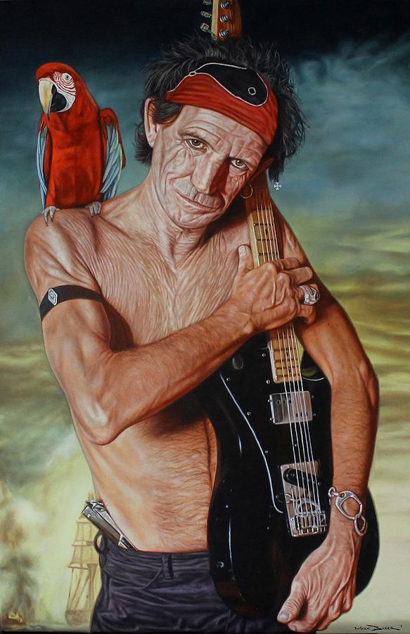 Captain Keef - Keith Richards Painting