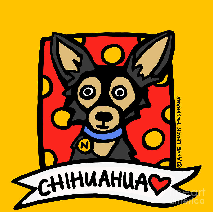Chihuahua Digital Art Digital Art -  Chihuahua Love by Anne Leuck