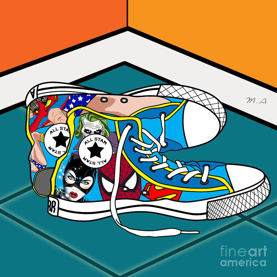 Comics Shoes Digital Art