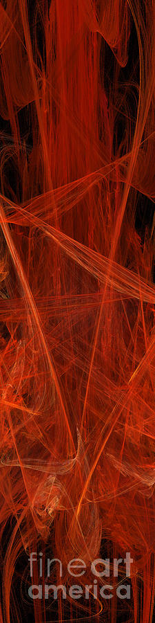 Dancing Flames 1 V - Panorama - Abstract - Fractal Art Digital Art