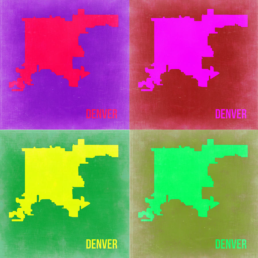 Denver Pop Art Map 2 Painting