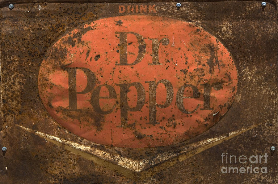 Dr Pepper Vintage Sign Photograph