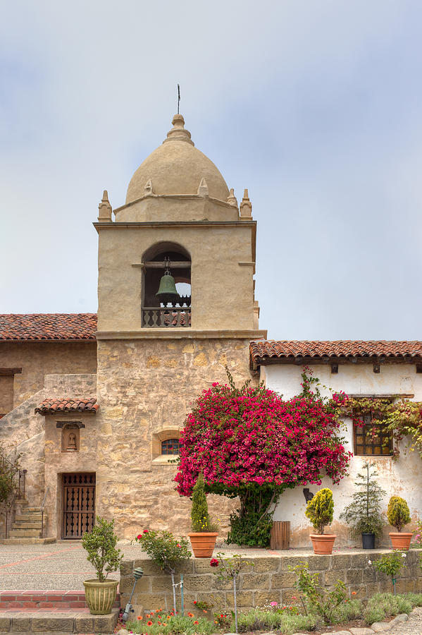 Facade Of The Chapel Mission San Carlos Borromeo De Carmelo Photograph  -  Facade Of The Chapel Mission San Carlos Borromeo De Carmelo Fine Art Print