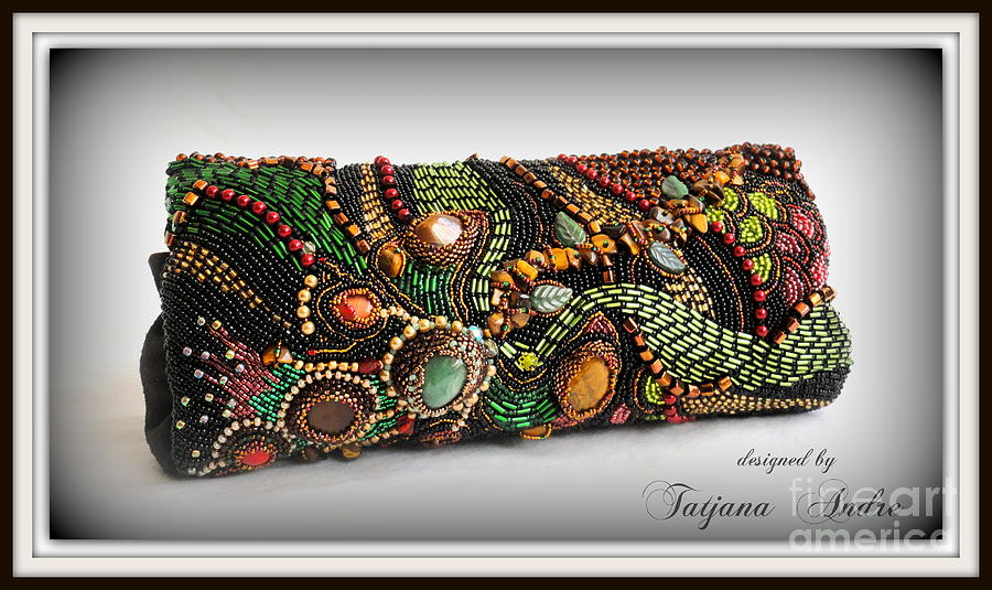Aventurine Jewelry -  Feather Of The Firebird by Tatjana Andre