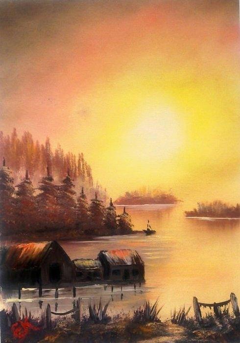 Fishermans Retreat. Painting