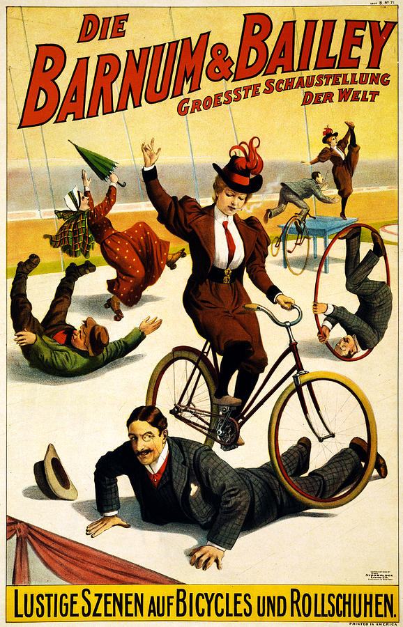 Funny Scenes Of Bicycles And Roller Skates Digital Art