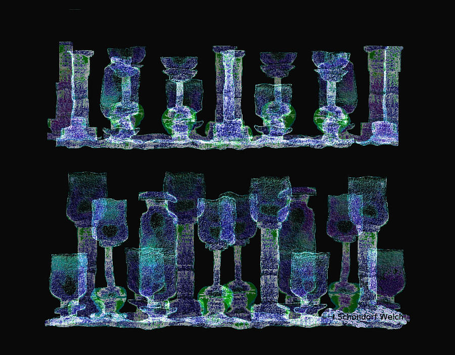 Glasses  - 111 Digital Art  -   Glasses  - 111 Fine Art Print
