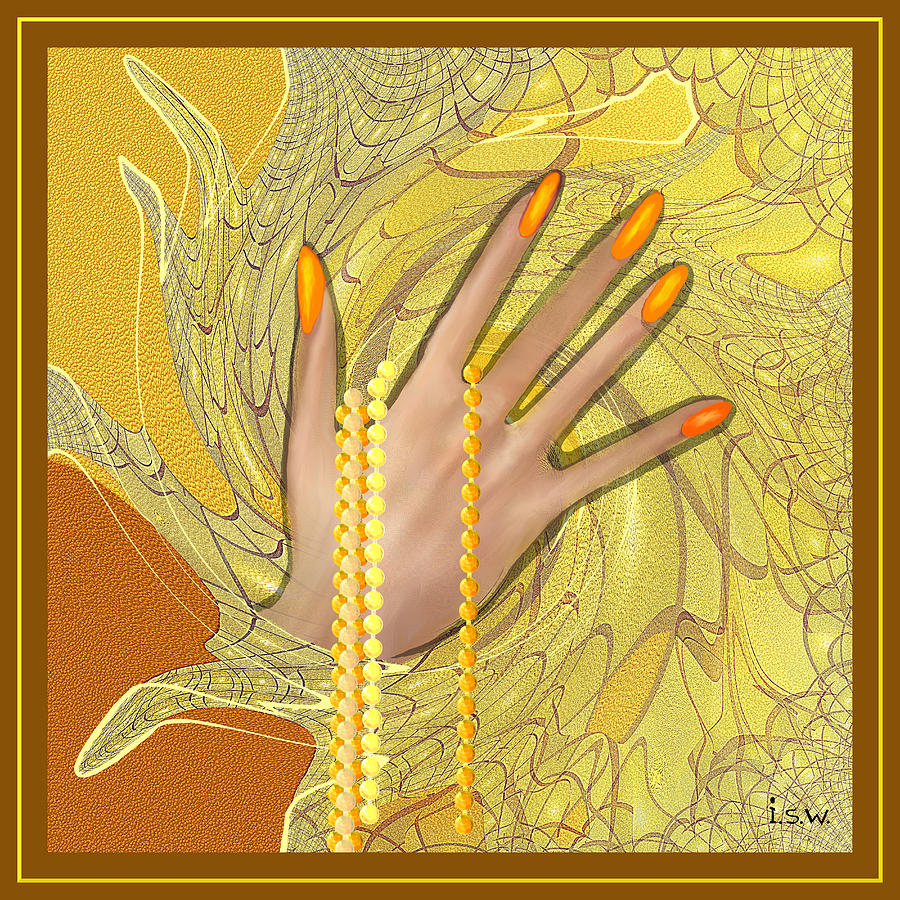 Gold Fingers - 544 Digital Art  -  Gold Fingers - 544 Fine Art Print