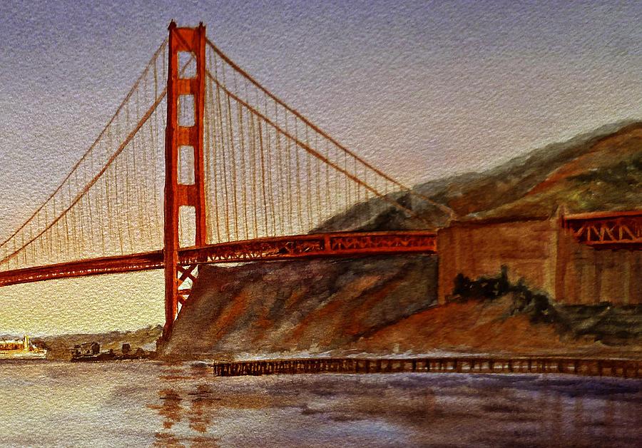 Golden Gate Painting -  Golden Gate Bridge San Francisco California by Irina Sztukowski