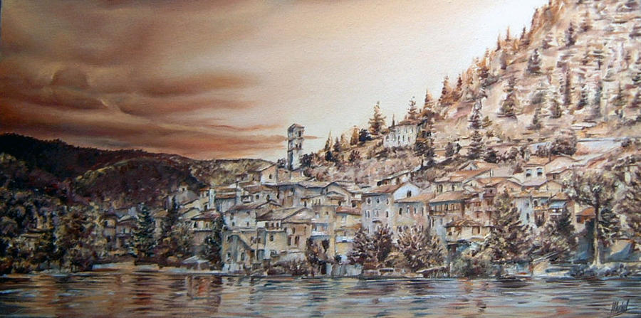 Golden Reflections Painting