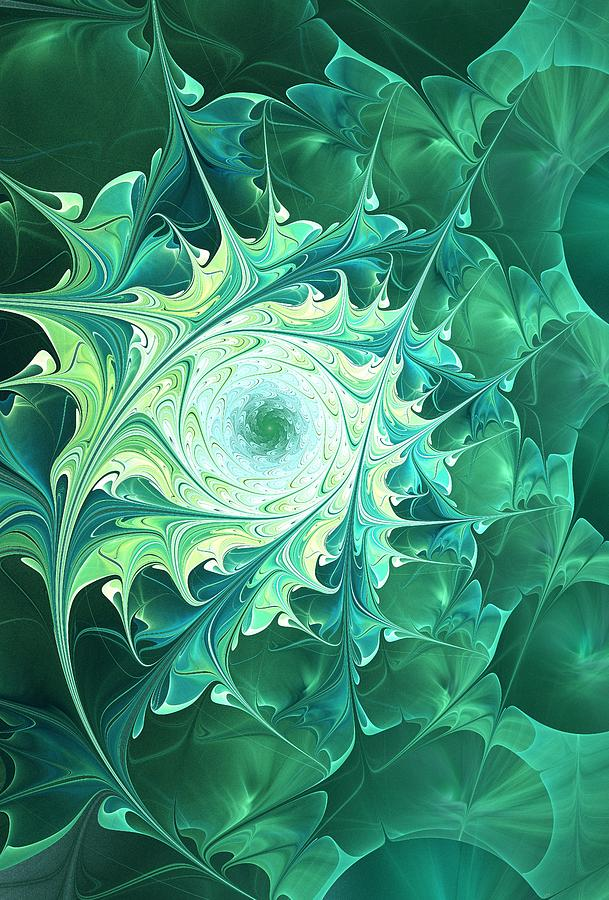 Green Magic Digital Art  -  Green Magic Fine Art Print