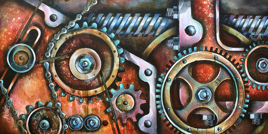 Mechanical Painting -  Harmony 8 by Michael Lang