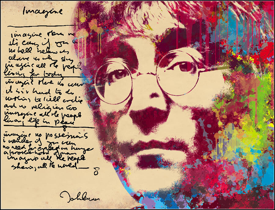 Photo Photograph - -imagine-john Lennon by Vitaliy Shcherbak