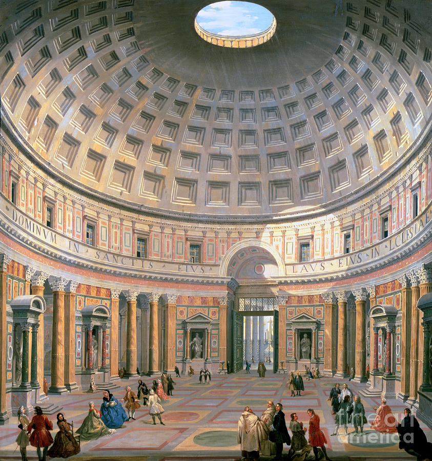 Interior Of The Pantheon Painting  -  Interior Of The Pantheon Fine Art Print