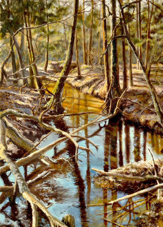 Lubianka-3-river Painting