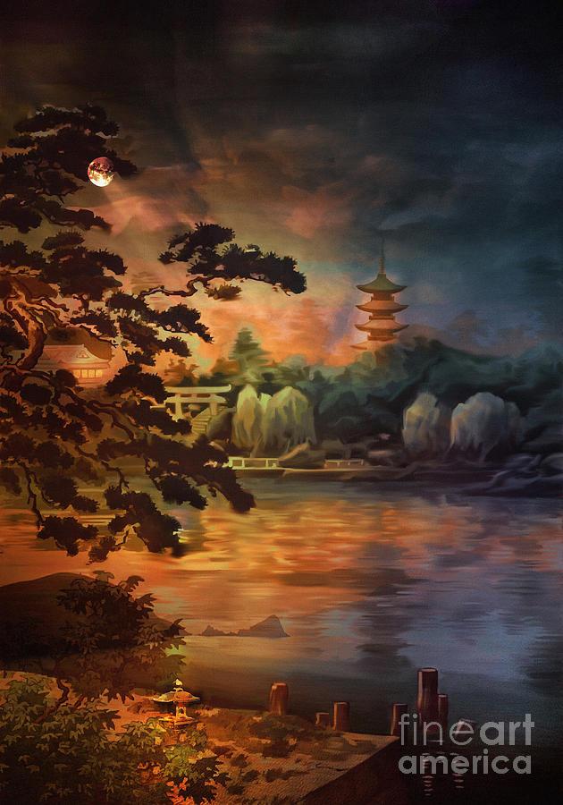Magic Of Japanese Gardens. Digital Art