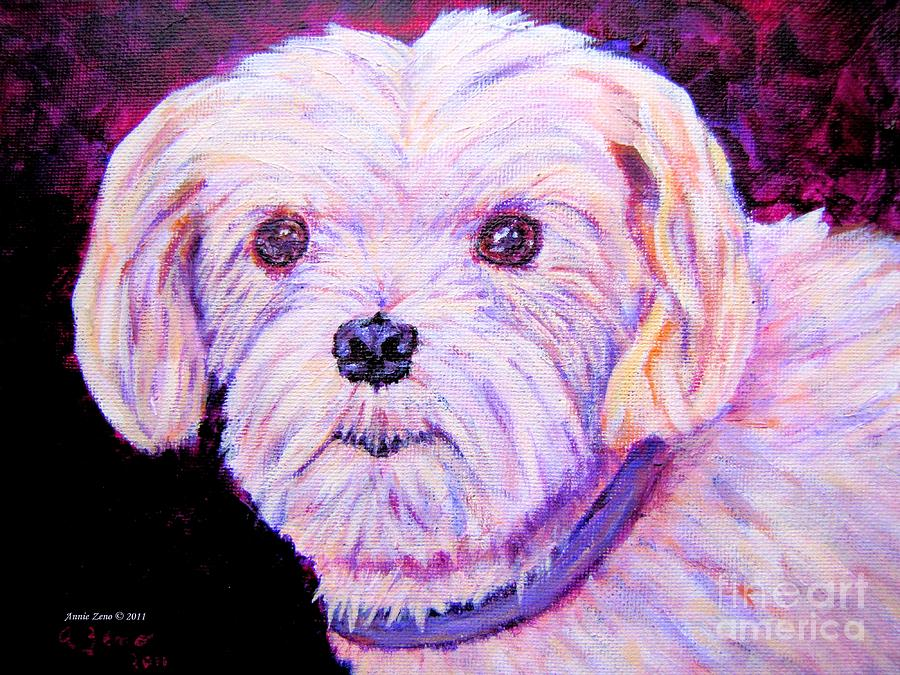 Maltese Dog Painting  Painting