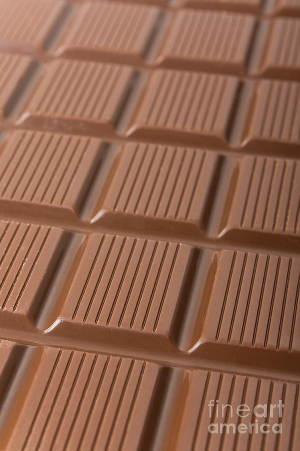 Milk Chocolate Bar Photograph  -  Milk Chocolate Bar Fine Art Print