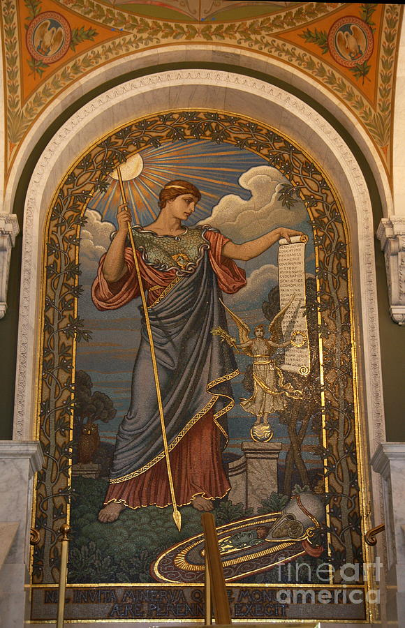 Minerva Of Peace Mosaic Photograph  -  Minerva Of Peace Mosaic Fine Art Print