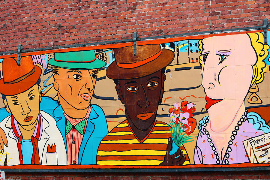 Mural Wall Art In Seattle Photograph