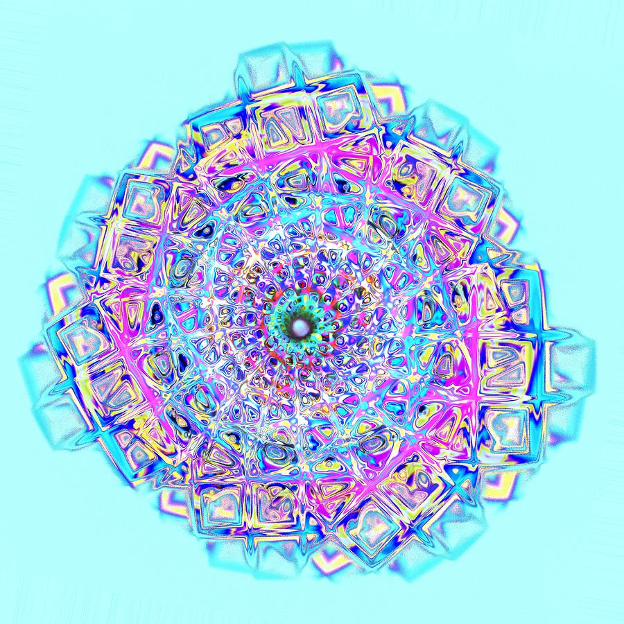 Murano Glass - Blue Digital Art