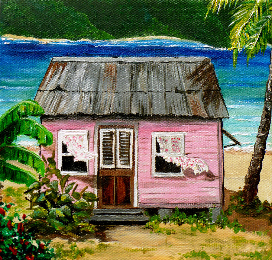 Pink Caribbean House Painting By Karin Dawn Kelshall Best