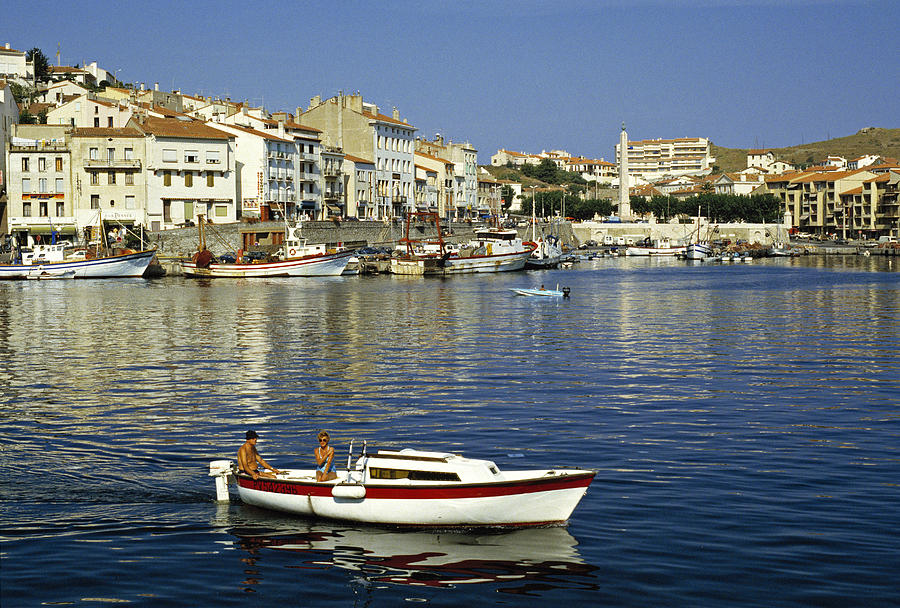 Port Vendres Harbour France 1980s Photograph  -  Port Vendres Harbour France 1980s Fine Art Print