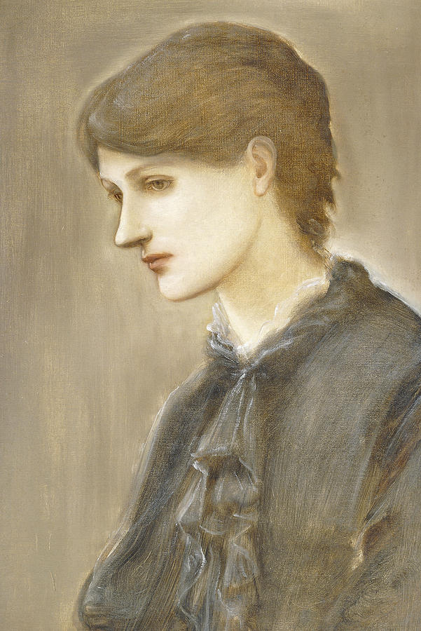 Portrait Of Mrs William J Stillman Nee Marie Spartali Painting  -  Portrait Of Mrs William J Stillman Nee Marie Spartali Fine Art Print