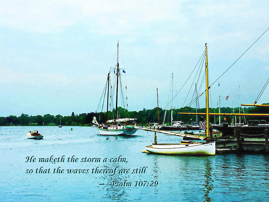 Psalm 107-29 He Maketh The Storm A Calm Photograph