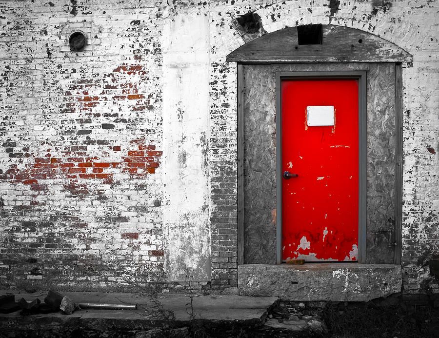Red Door Perception Photograph  -  Red Door Perception Fine Art Print