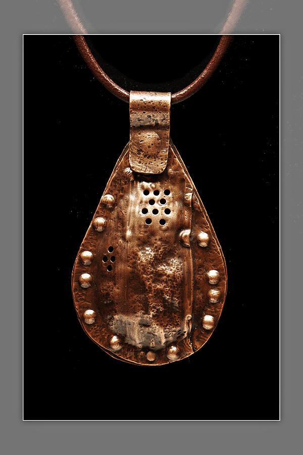 Rustic Copper Spice Trap Necklace Jewelry