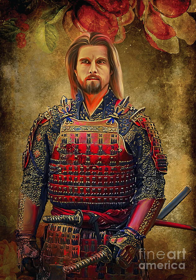Samurai Digital Art  -  Samurai Fine Art Print