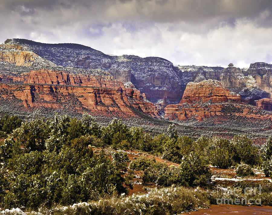 Sedona Arizona In Winter Coat Photograph  -  Sedona Arizona In Winter Coat Fine Art Print