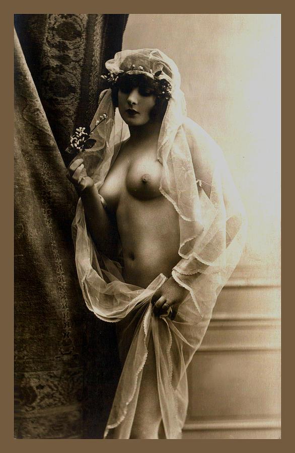 Sexy Nude Sepia Tone Digital Art