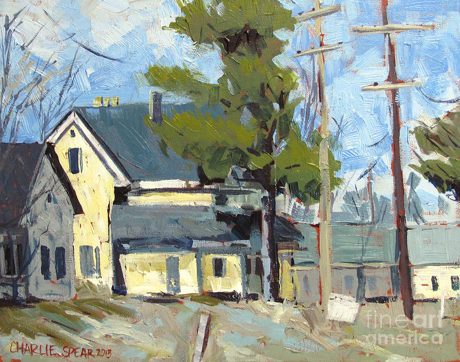 Sold Wabash Indiana Home Painting  -  Sold Wabash Indiana Home Fine Art Print