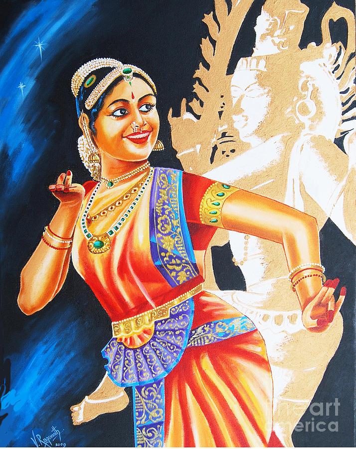 bharatanatyam dance painting - photo #12