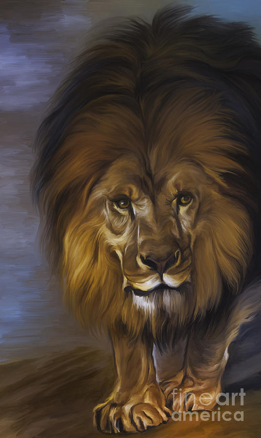 The Lion King Painting  -  The Lion King Fine Art Print