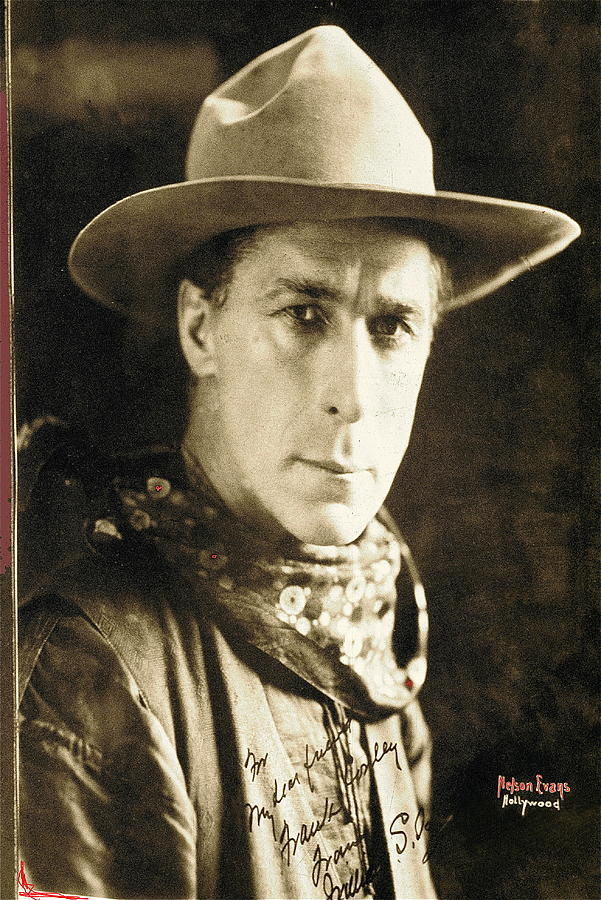 William S. Hart Portrait C.1918 Nelson Miles Photographer Virginia City Montana 1971 Photograph  -  William S. Hart Portrait C.1918 Nelson Miles Photographer Virginia City Montana 1971 Fine Art Print