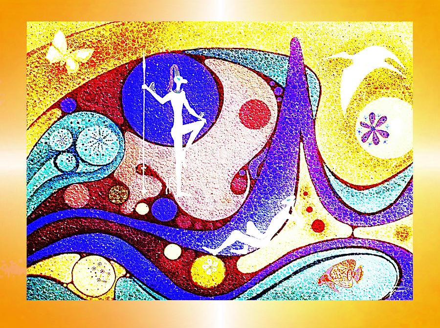 Yellow  Dreamworld Painting