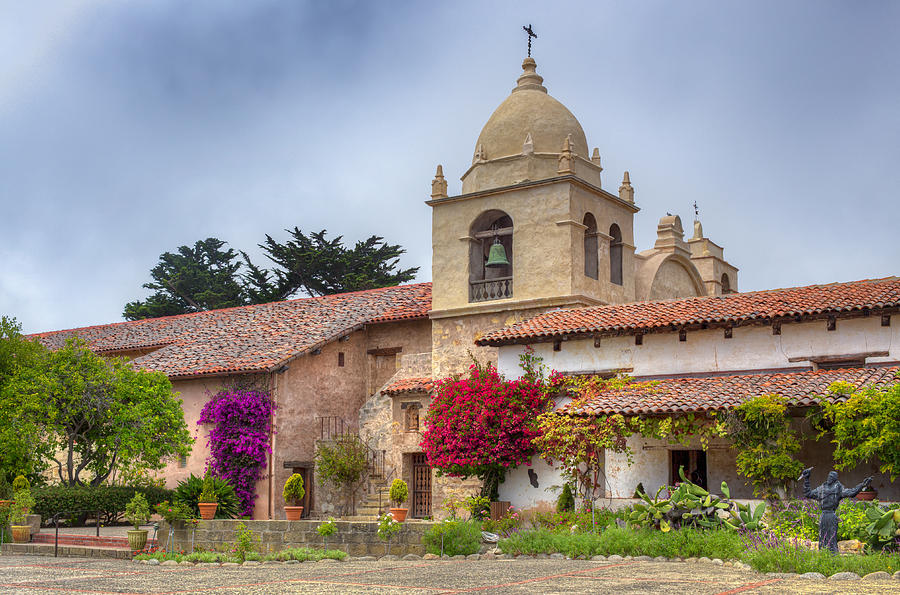 American Photograph -  Facade Of The Chapel Mission San Carlos Borromeo De Carmelo by Ken Wolter
