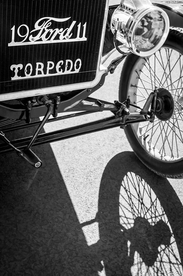 1911 Ford Model T Torpedo Grille Emblem Photograph