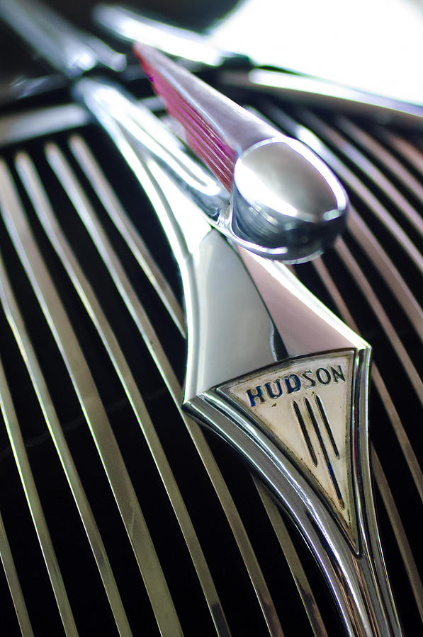 1937 Hudson Terraplane Sedan Hood Ornament Photograph  - 1937 Hudson Terraplane Sedan Hood Ornament Fine Art Print