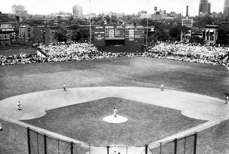 1937 Opening Day At Wrigley Field Photograph